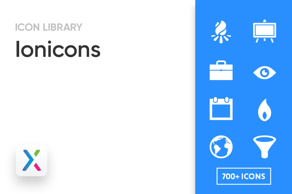 Ionicons Axure Icon Library Preview Image