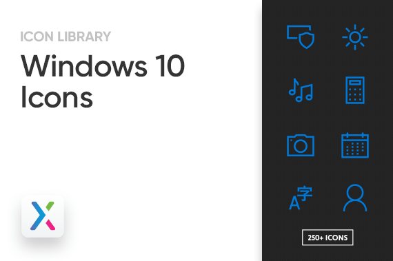 Windows 10 Axure Icon Library Preview Image