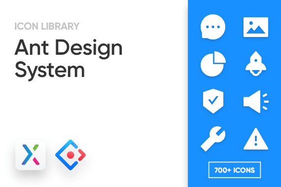 Ant Design System Axure Icon Library Preview Image