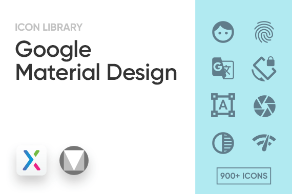 Google Material Design Axure Icon Library Preview Image