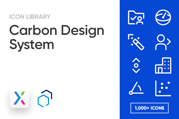Carbon Design System Axure Icon Library Preview Image