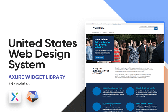 United States Web Design System Axure Widget Library
