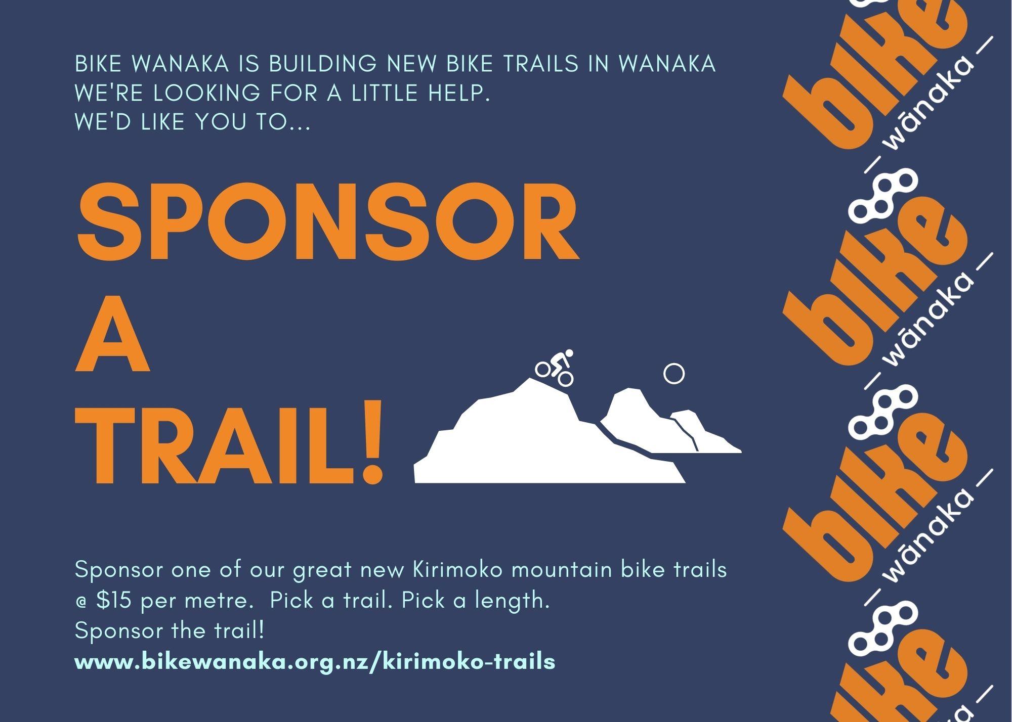 Bike Wanaka sponsor Kirimoko Bike Trails 2020