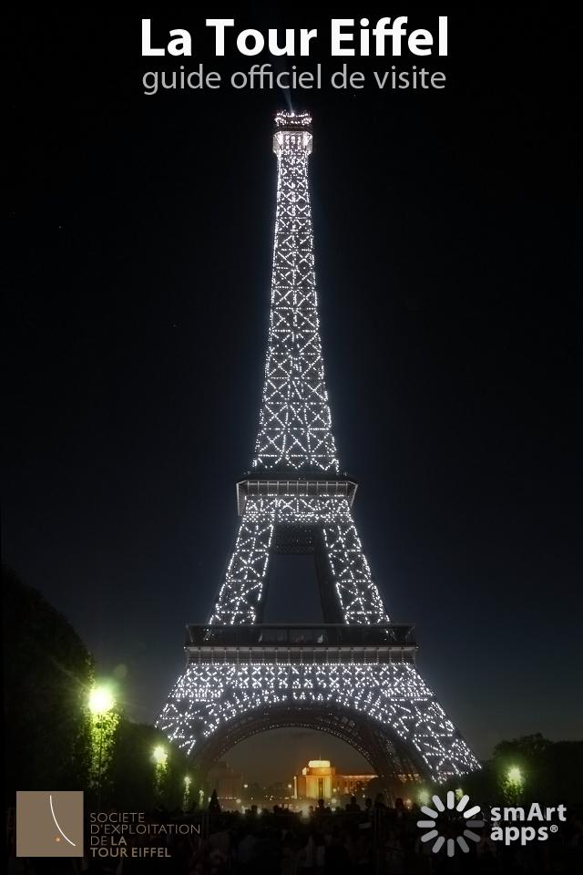 Imagen de apertura de la guia de visita movil de la torre Eiffel