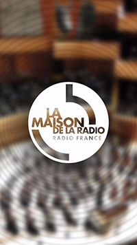 Imagen de apertura de la aplicacion parar la exposicion de la Maison de la Radio
