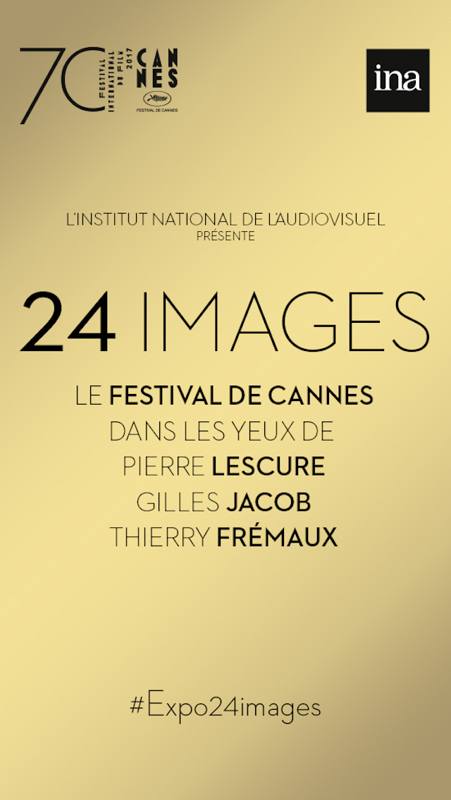 A preview of the app smArtapps created for the National Audiovisual Institute at the occasion of the Cannes Festival