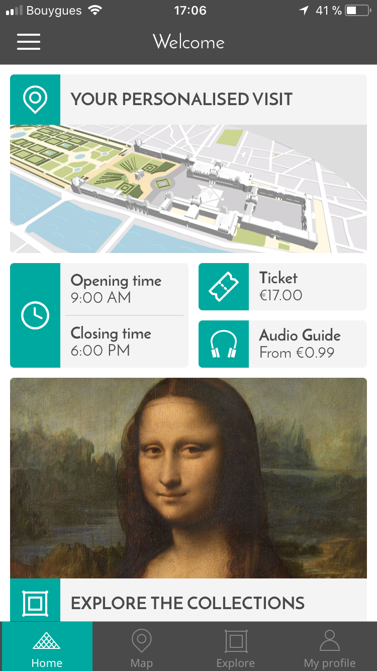 We created a tour guide app for the greatest museum of the world: the Louvre Museum