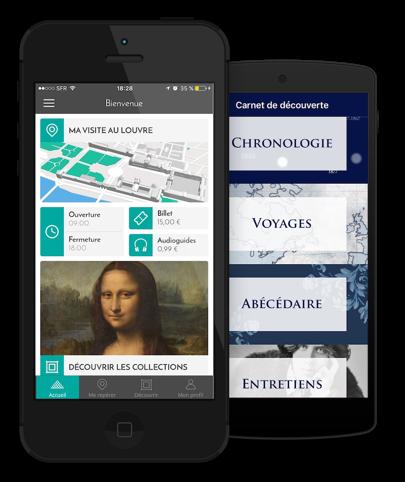 Aperçu de l'application officielle du musée du Louvre