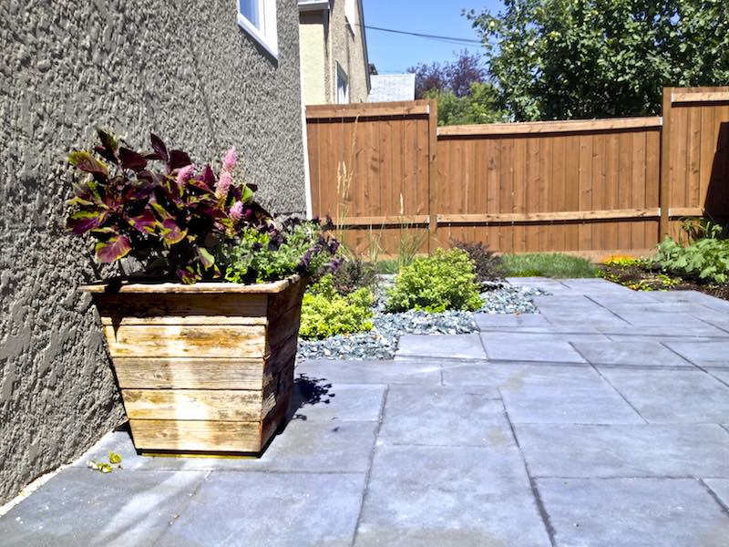wood planter Winnipeg recycled