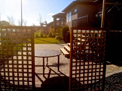 Winnipeg Landscaping patio Sage creek