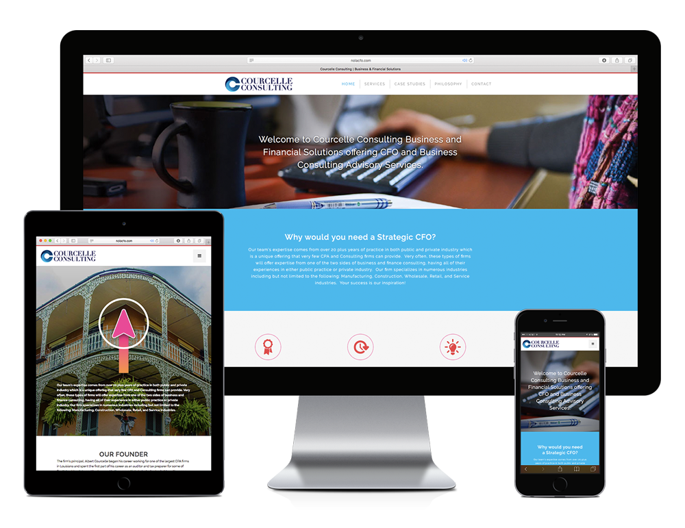 Responsive Website Design for Courcelle Consulting