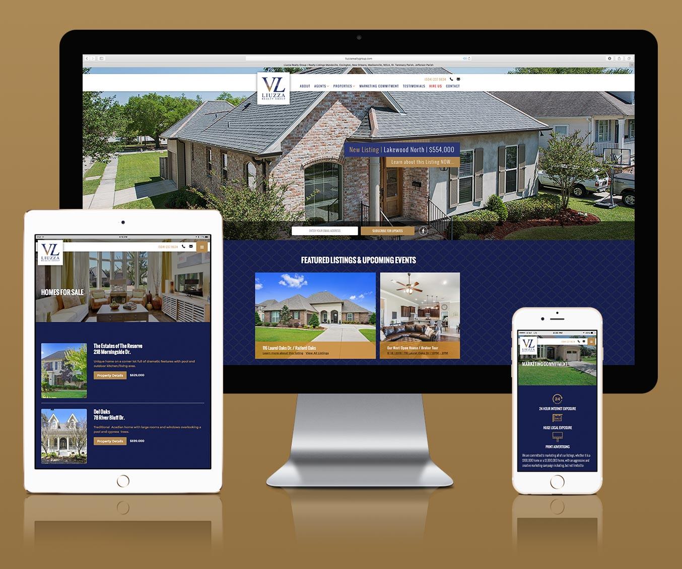 Responsive Web Design for Liuzza Realty