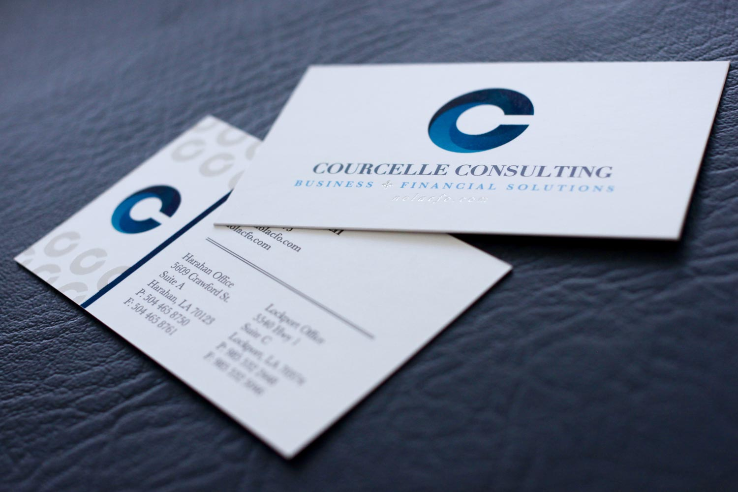 Business Card Design for Courcelle Consulting