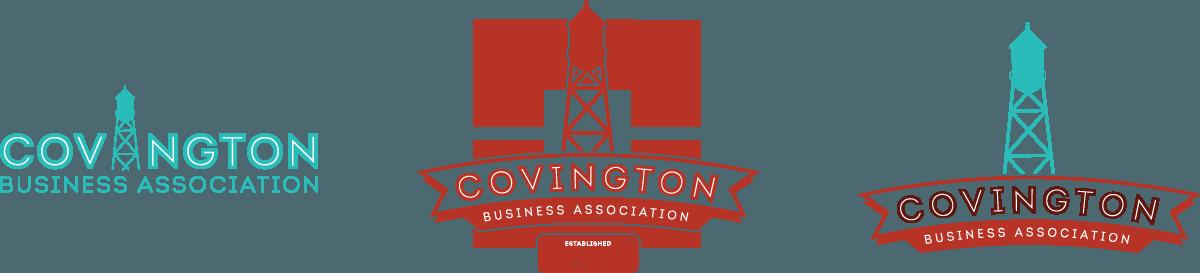 Covington Business Association Logo Variants
