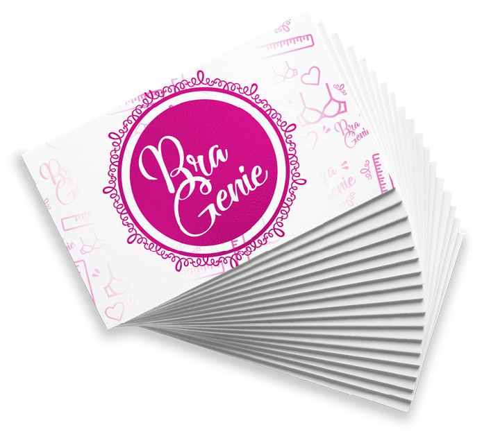 Bra Genie Business Cards