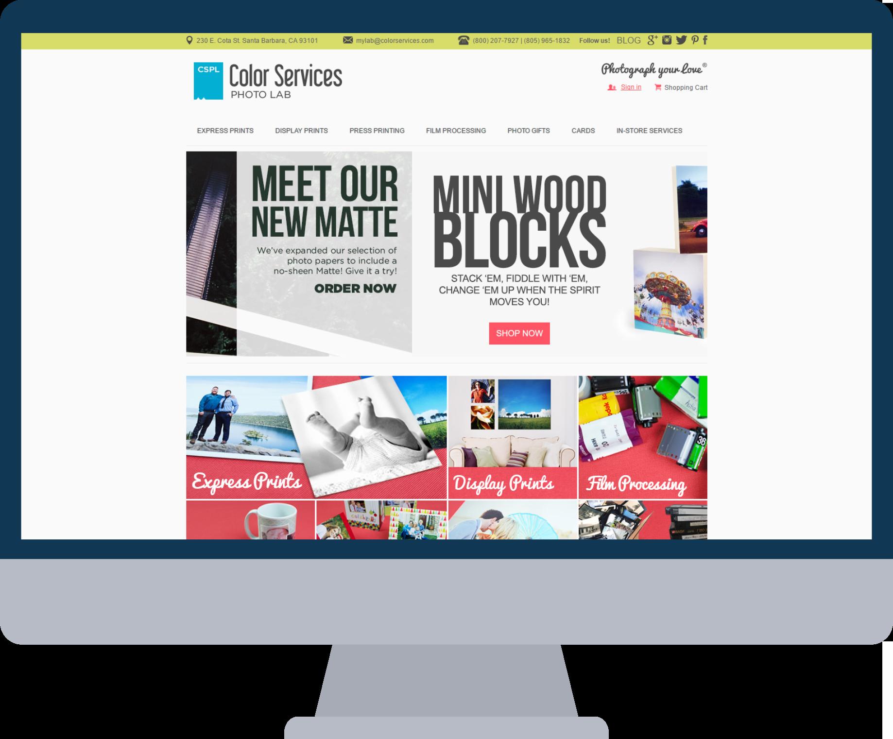 Managed Website on desktop