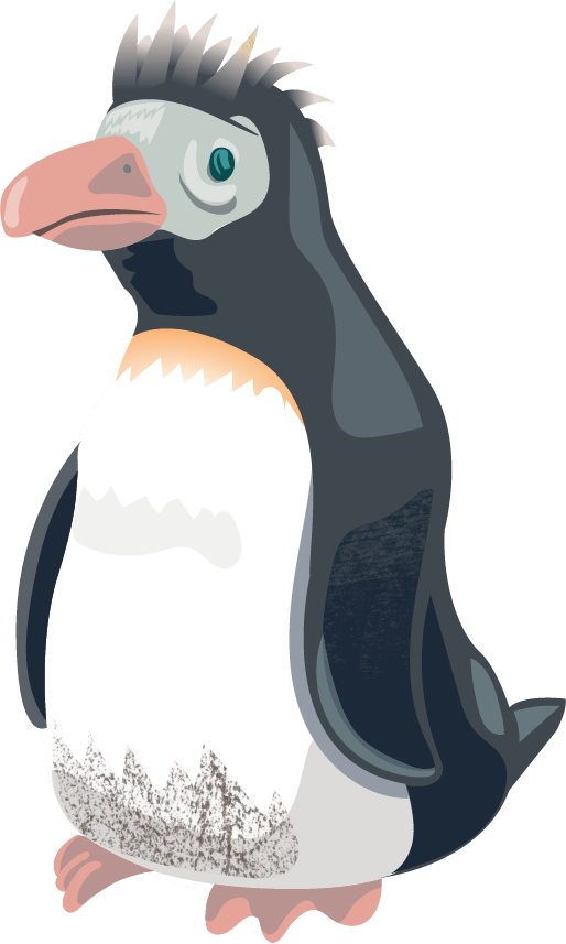 a cheeky penguin