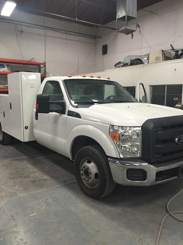 fleet truck receiving routine auto repair work
