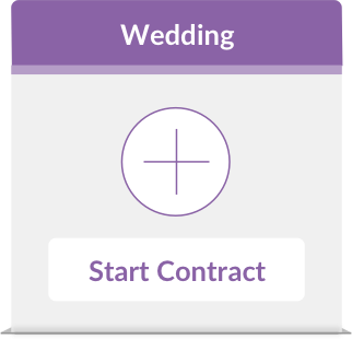 iPhone showing wedding and portrait contracts on the dashboard of the iOS App