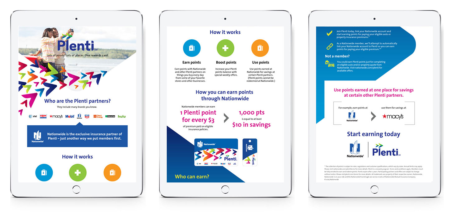 Tablet view of an infographic explaining how Plenti works