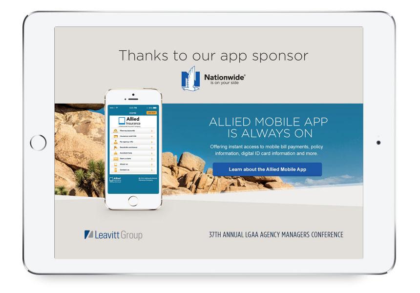 Image of mobile sponsorship splash page