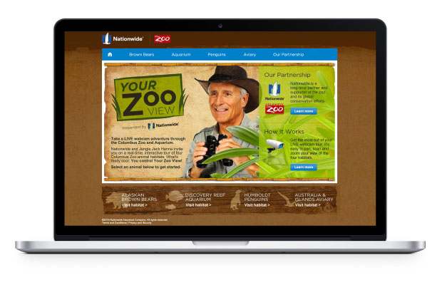 Your Zoo View landing page