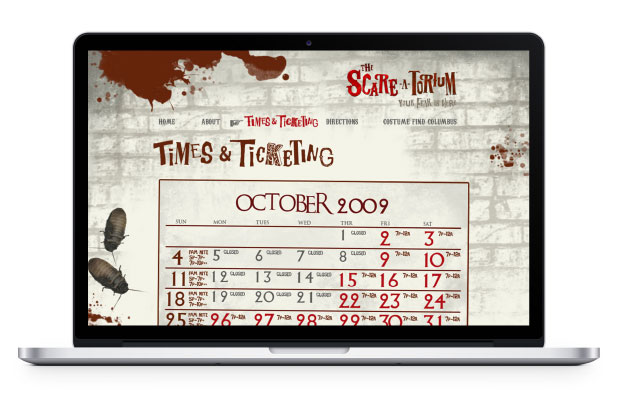 Scareatorium time page