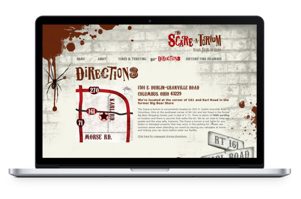 Scareatorium directions page