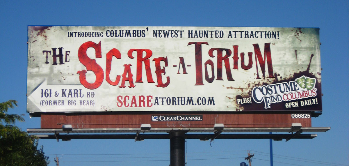 Scareatorium billboard