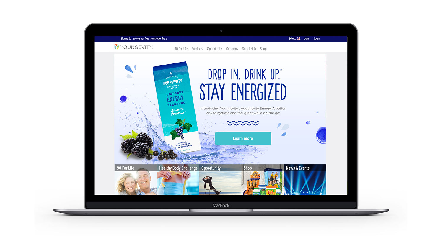 Aquagevity home page banner