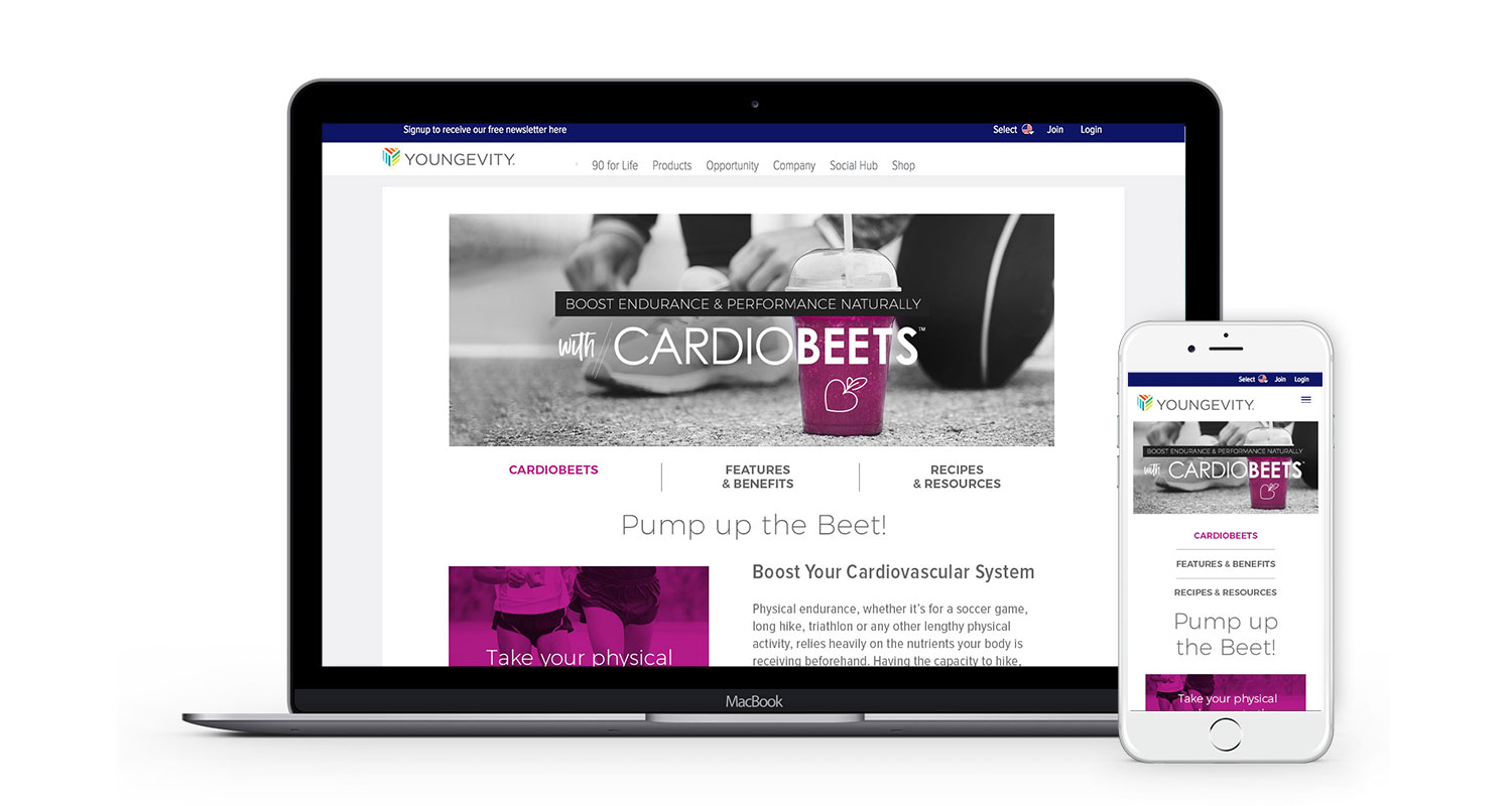 Cardiobeets landing page