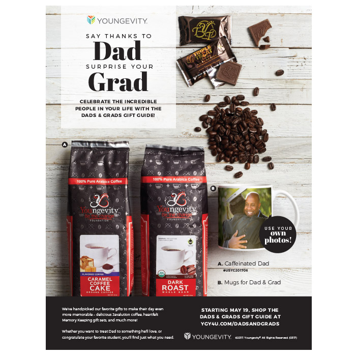 Dads & Grads print ad
