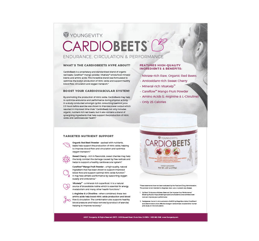 Cardiobeets sell sheet