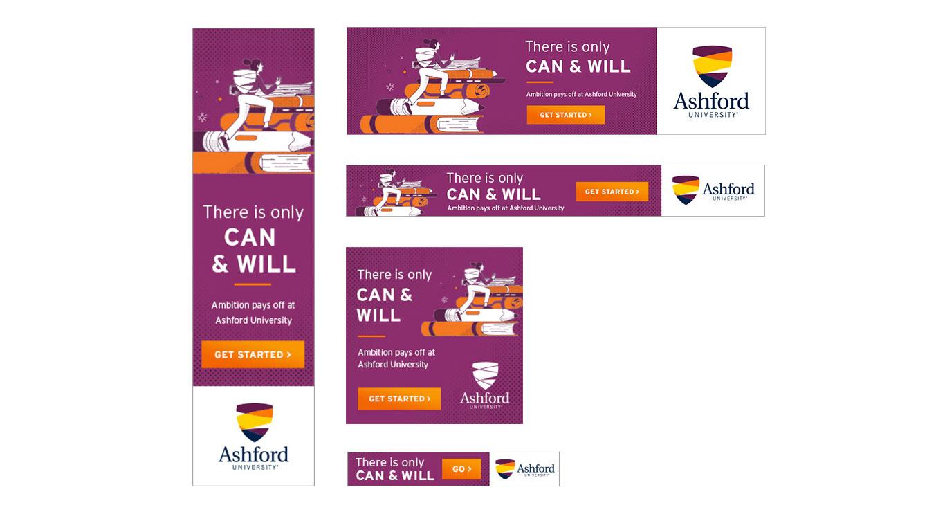 Display ads using illustration