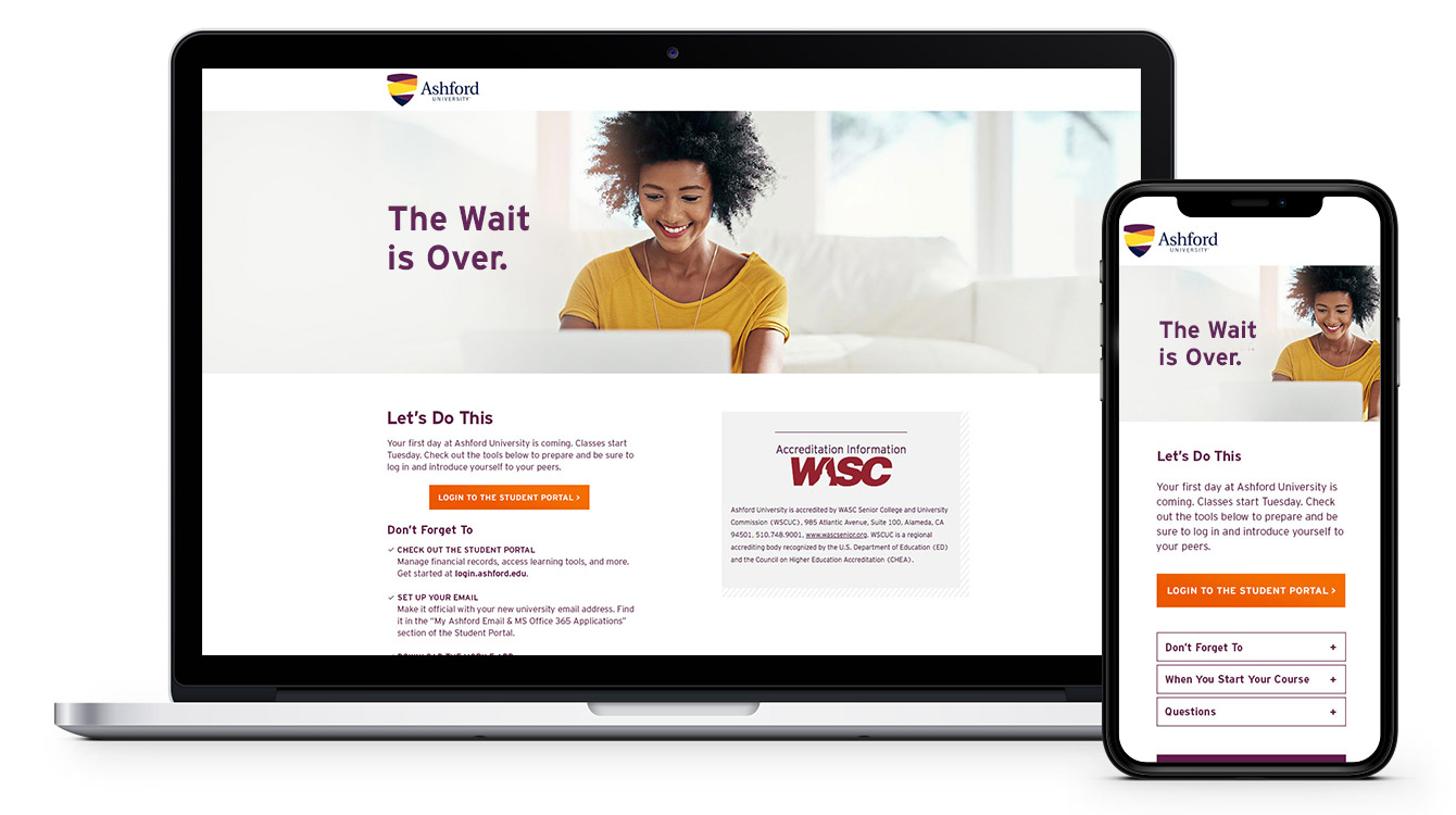 Welcome mailer landing page