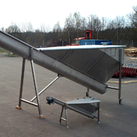 Sand separator, screw classifier and screw thickener