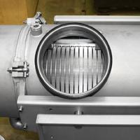 Inspection hatch of a Screw Press
