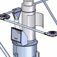 Suursäkin tyhjennysasema ja standardityyppinen putkikolakuljetinjärjestelmä