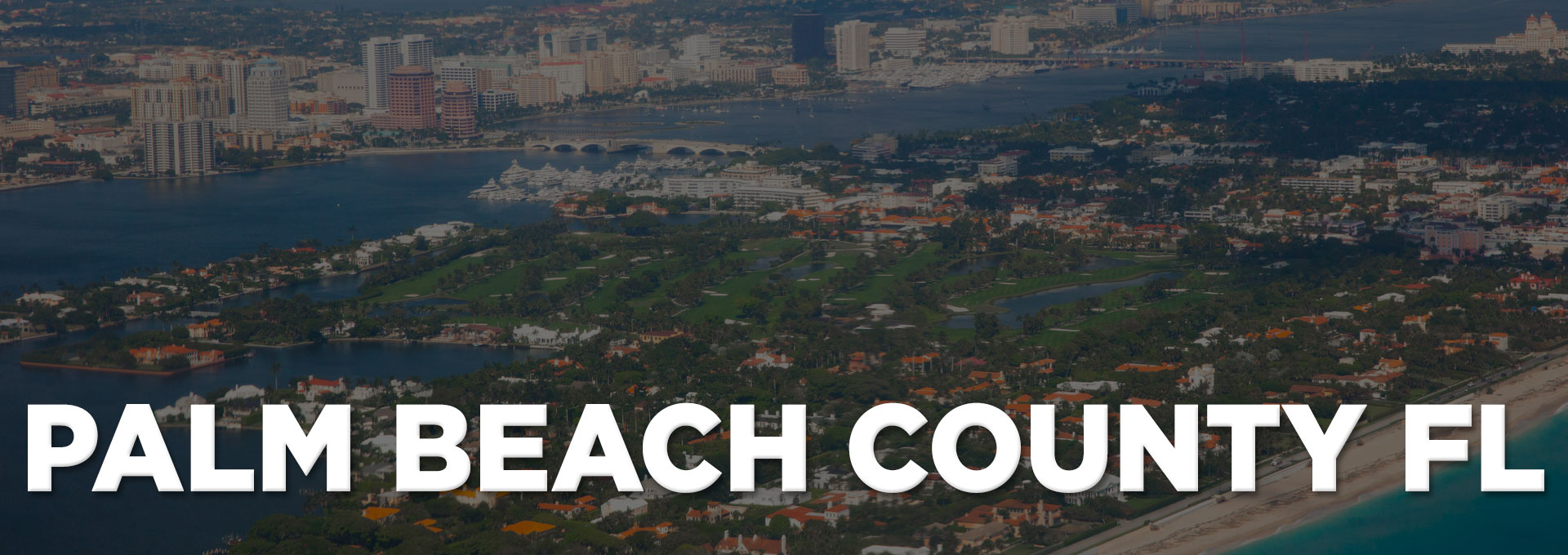 aerial view of palm beach county from the ocean
