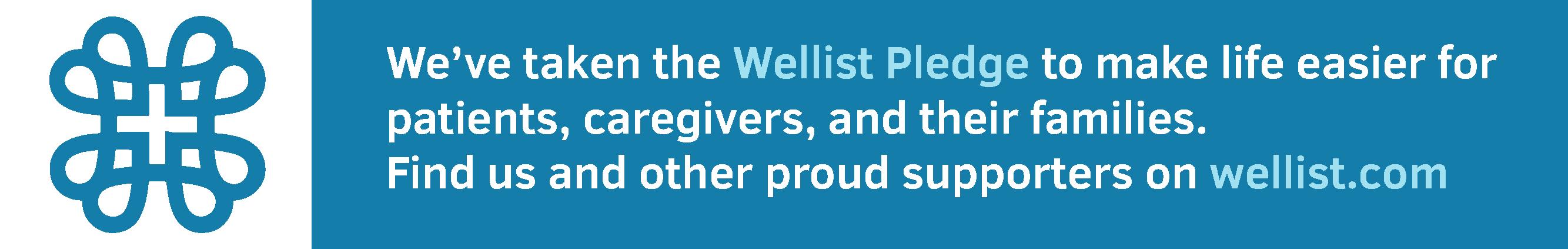 Wellist Pledge badge example