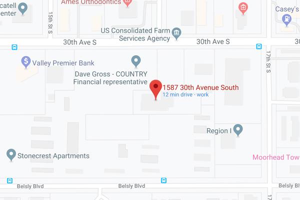 Moorhead Office Google Map