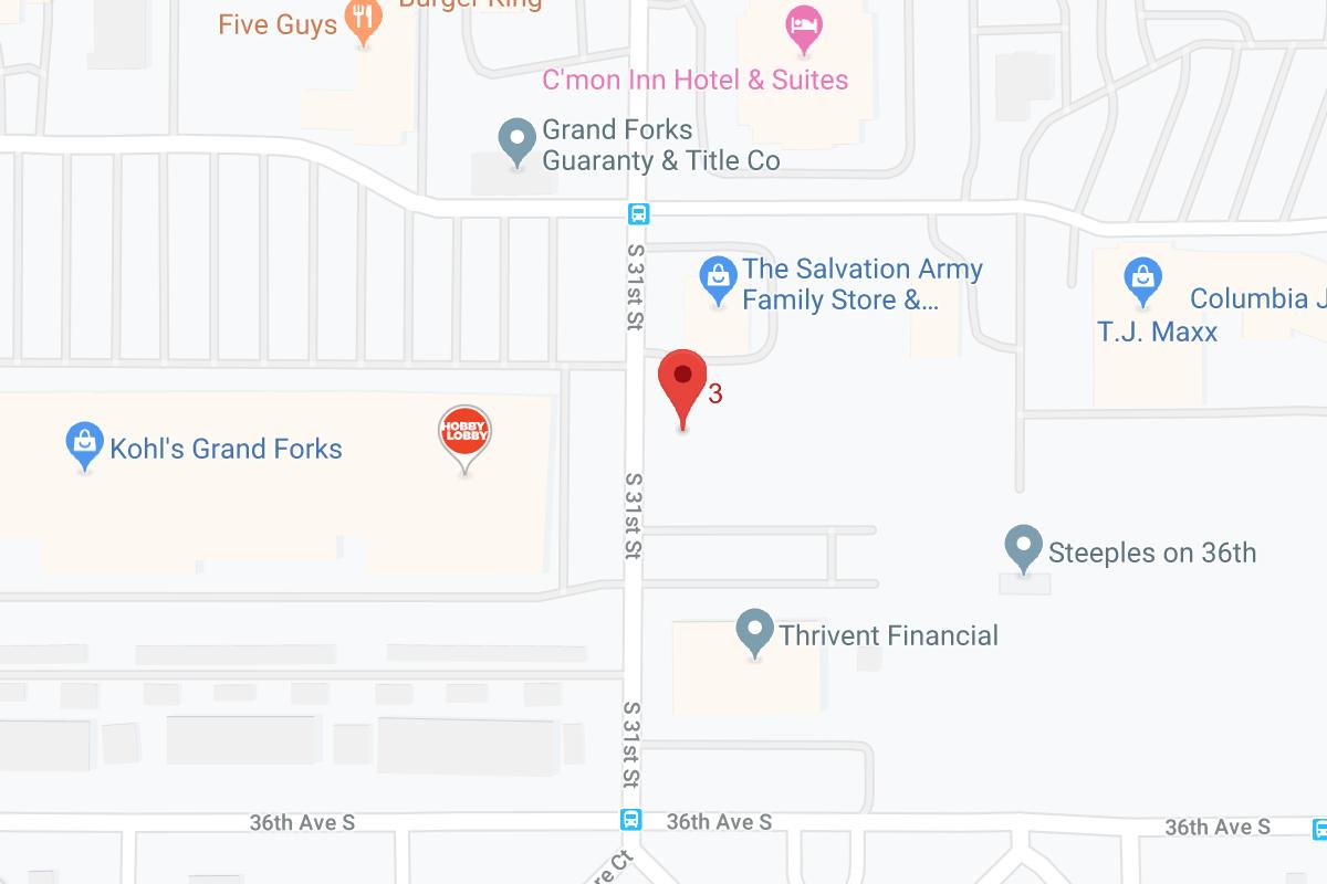 Grand Forks Google Map