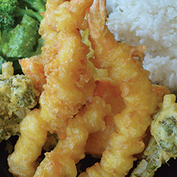 picture of our delicious tempura shrimp and vegetables