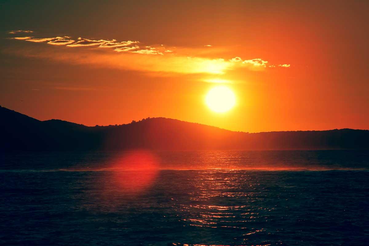 Foto eines Sonnenuntergangs in Zadar