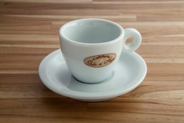 Xícara de café coquinho cabo redondo 75ml