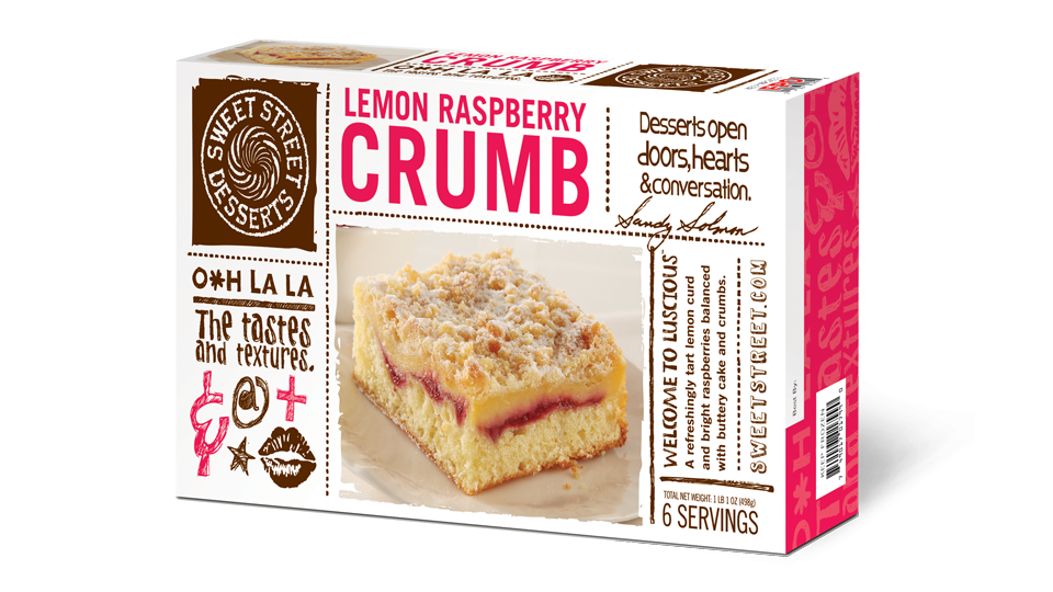 Sweet Street Lemon Raspberry Crumb Bar Box