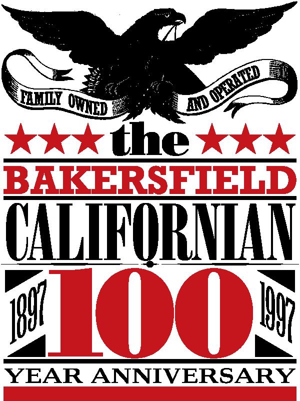 The Bakersfield Californian 100 Year Anniversary Eagle Logo