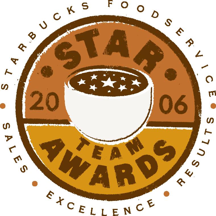 Starbucks Foodservice Star Team Awards Logo
