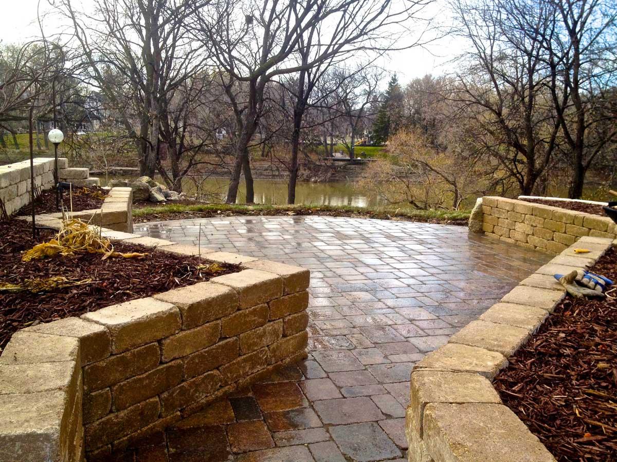 Barkman landscaping retaining walls