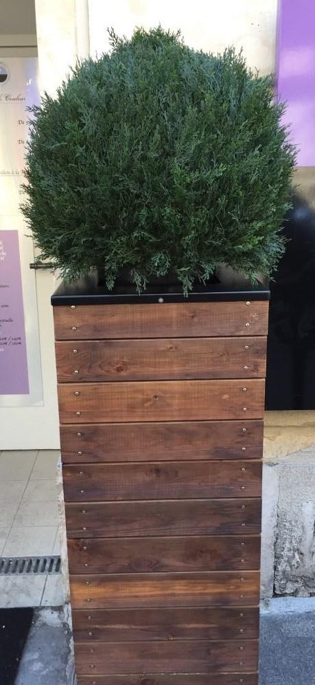 Planter tall brown modern in winnipeg